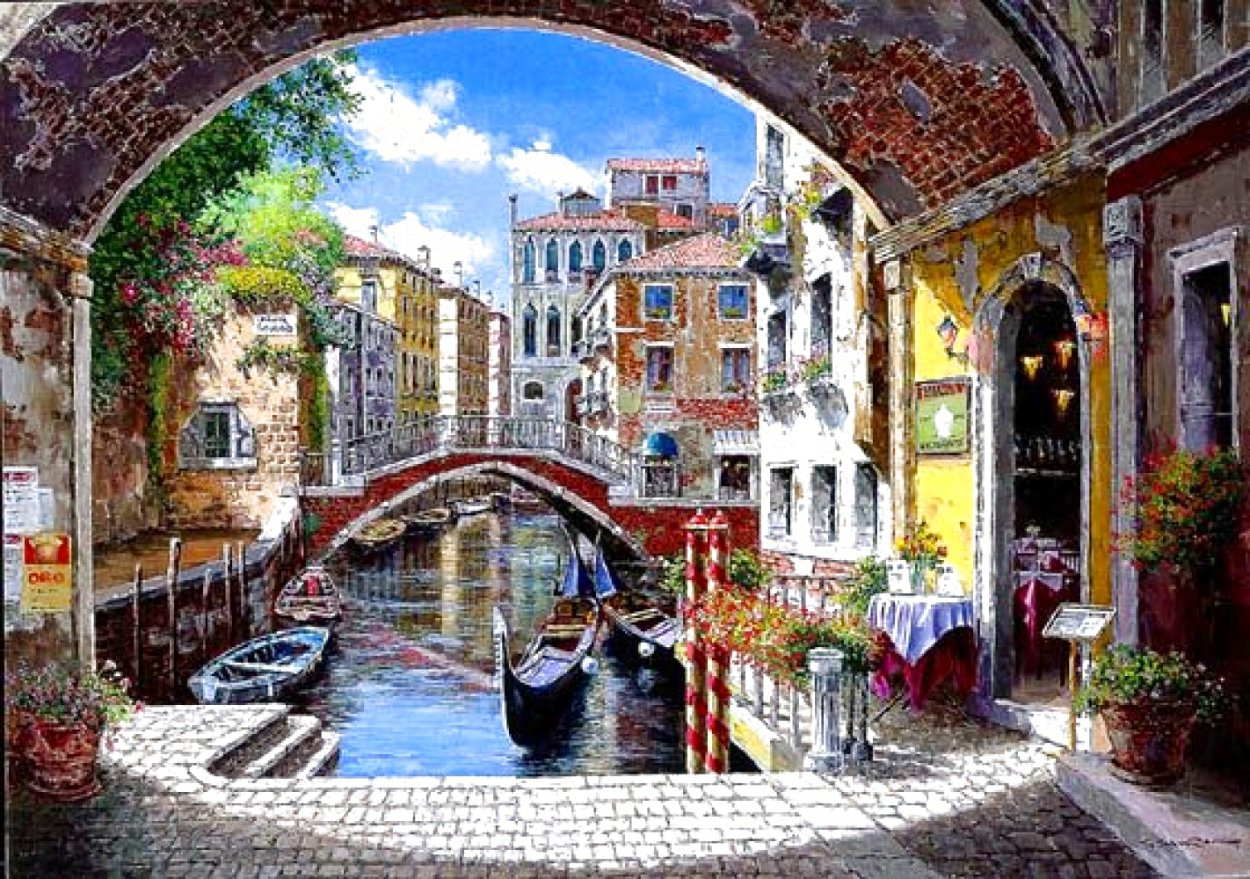 Archway to Venice 2003 Limited Edition Print by Sam Park