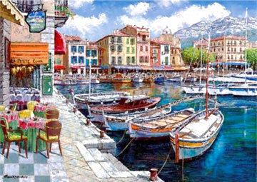 Cafe in Cassis 2002 Limited Edition Print - Sam Park