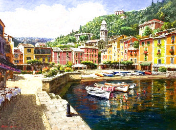 Harbor At Portofino 2002 Limited Edition Print - Sam Park