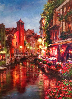 Annecy Night AP Embellished Limited Edition Print - Sam Park