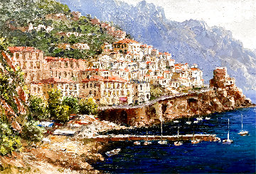 Amalfi 2000 20x24 Original Painting - Sam Park