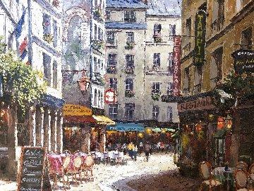 Le Petit Rollebeck 2000 43x53 Huge Original Painting - Sam Park