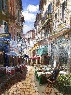 Afternoon in Agada 41x35 Huge  Original Painting by Sam Park - 2