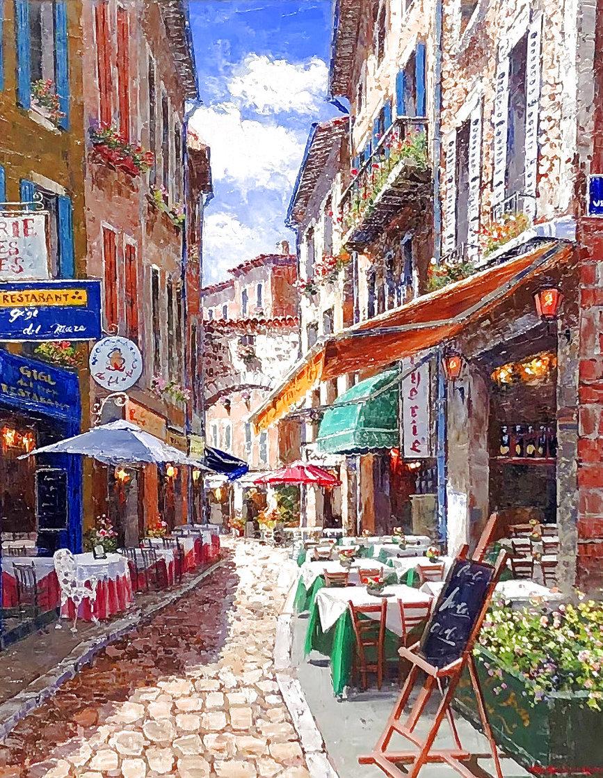 Afternoon in Agada 41x35 Huge  Original Painting by Sam Park