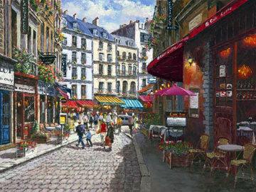 Paris Cafe 2001 Embellished Limited Edition Print by Sam Park