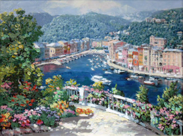 Bellagio, Varenna, and Portofino (Treasures of Italy Suite) Limited Edition Print - Sam Park