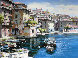 Bellagio, Varenna, and Portofino (Treasures of Italy Suite) Limited Edition Print by Sam Park - 1