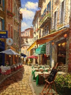 Afternoon in Agada, Korea 2003 40x35 Original Painting by Sam Park
