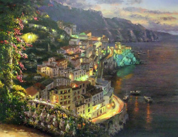 Lights of Amalfi Limited Edition Print by Sam Park