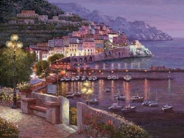 Amalfi Twilight 2014 Embellished  Limited Edition Print - Sam Park