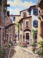 Antibes, With Huge Remarque on Verso 2002 Embellished Limited Edition Print by Sam Park - 1