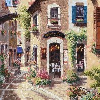 Antibes, With Huge Remarque on Verso 2002 Embellished Limited Edition Print by Sam Park - 2