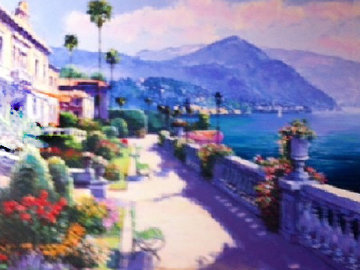 Lake Como Promenade 2000 Embellished  Limited Edition Print by Sam Park