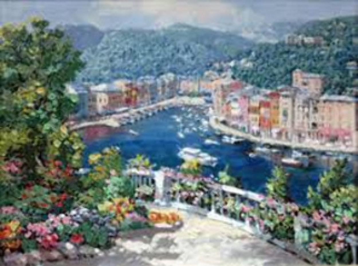 Bellagio, Varenna, Portofino, And Venezia (Treasures of Italy Suite of 4) AP 2000 Limited Edition Print by Sam Park