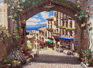 Arch De Cagnes 2001 Embellished Limited Edition Print - Sam Park