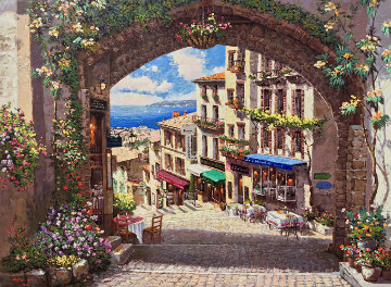 Arch De Cagnes 2001 Embellished Limited Edition Print by Sam Park