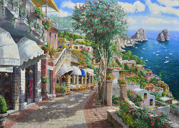 Afternoon in Capri 2002 Embellished  Limited Edition Print by Sam Park