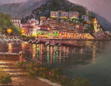 Cetera Night  34x28 Original Painting - Sam Park