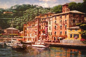 Dockside At Portofino 2013 Embellished  Limited Edition Print by Sam Park