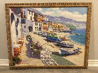 Boats of Callela 1995 Embellished  Limited Edition Print by Sam Park - 1