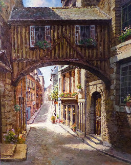 Gold Scheuer 38x32 Original Painting by Sam Park
