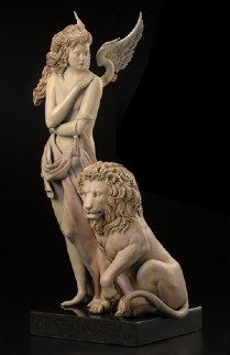 Last Lion 1/3 Life Size   2012 28 in Sculpture by Michael Parkes