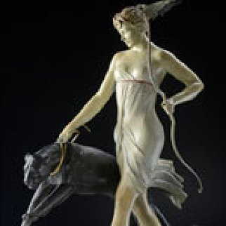 Goddess of the Hunt Bronze Sculpture 20 in Sculpture by Michael Parkes