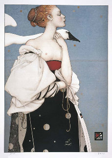Pale Swan 1996 Limited Edition Print by Michael Parkes