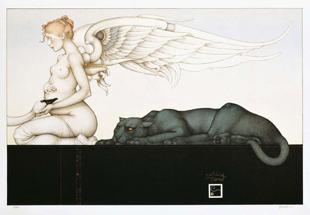 Waiting 2001 Limited Edition Print by Michael Parkes