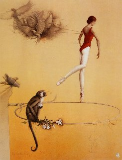 Practice Ring 1982 Limited Edition Print - Michael Parkes
