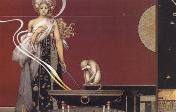 Sacred Fire 1 Limited Edition Print by Michael Parkes