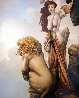 Last Lion 2015 Limited Edition Print by Michael Parkes
