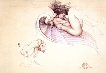 Angel of August 2003 Limited Edition Print by Michael Parkes