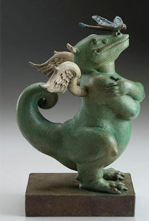 Dragon Dragon Bronze Sculpture 2019 7 in Sculpture - Michael Parkes