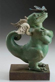Dragon Dragon Bronze Sculpture 2019 7 in Sculpture by Michael Parkes