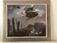Last Dragon 1981 31x36 Original Painting by Michael Parkes - 1