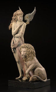 Last Lion Bronze Sculpture 28 in Sculpture - Michael Parkes
