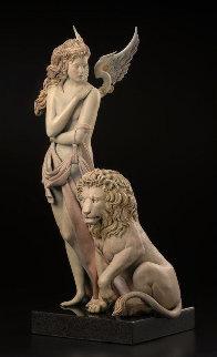Last Lion Bronze Sculpture 28 in Sculpture - Michael Parkes