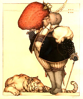 Strawberry Collector 2004 Limited Edition Print by Michael Parkes