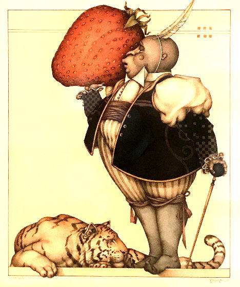 Strawberry Collector 2004 by Michael Parkes