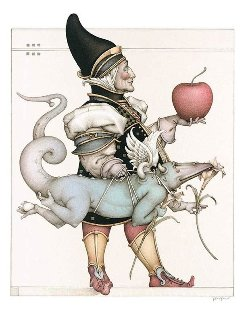 Dragon Collector 2003 Limited Edition Print by Michael Parkes