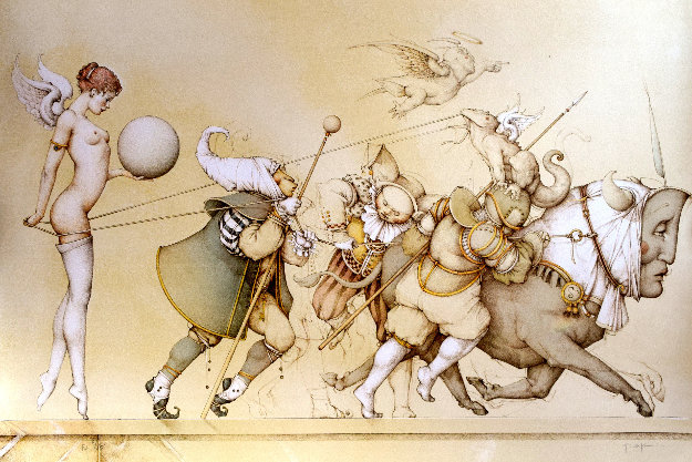 Returning the Sphere 1991 by Michael Parkes