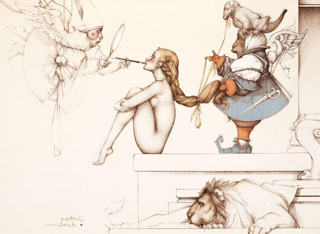 Creating Eve 2000 Limited Edition Print by Michael Parkes