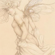 Startled Sky Nymph Limited Edition Print by Michael Parkes - 0