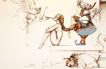 Creating Eve  2000 Limited Edition Print - Michael Parkes