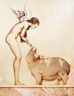 Angel's Touch 1990 Limited Edition Print - Michael Parkes