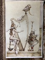 Moon Harp 1995 Limited Edition Print by Michael Parkes - 1