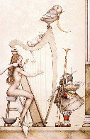Moon Harp 1995 Limited Edition Print by Michael Parkes - 0