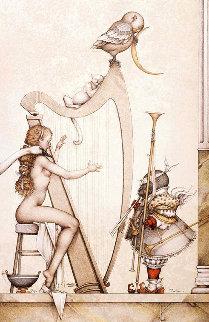 Moon Harp 1995 Limited Edition Print - Michael Parkes