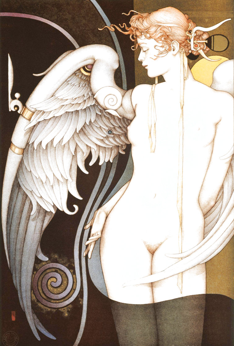Watching Time 2000 Limited Edition Print by Michael Parkes